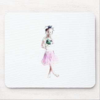 Girl dancer mouse pad