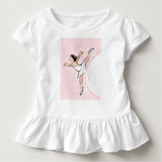 Girl dancing ballet in shining pink surroundings toddler T-Shirt