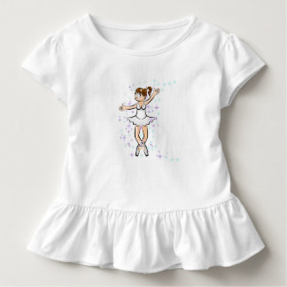 Girl dancing under a multicoloured rain of flowers toddler T-Shirt