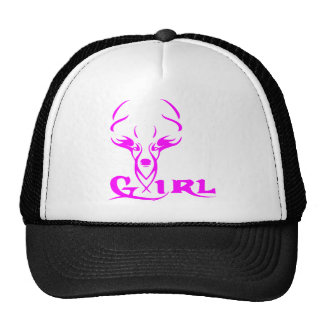 GIRL DEER HUNTER TRUCKER HATS