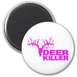 GIRL DEER KILLER 6 CM ROUND MAGNET