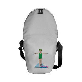 Girl Diver Messenger Bag