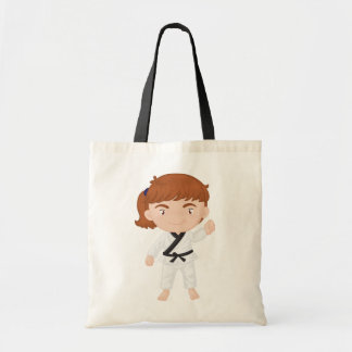 Girl Doing Karate Tote Bag
