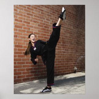 Girl doing martial arts 3 poster