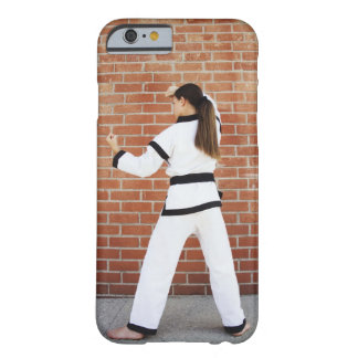 Girl doing martial arts barely there iPhone 6 case