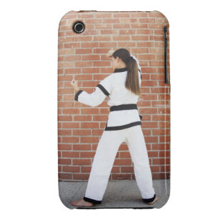 Girl doing martial arts Case-Mate iPhone 3 cases