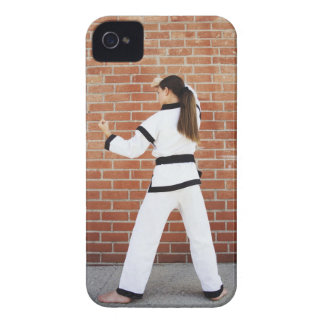 Girl doing martial arts iPhone 4 Case-Mate case