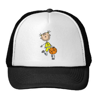 Girl Dribbling Basketball Tshirts and Gifts Cap
