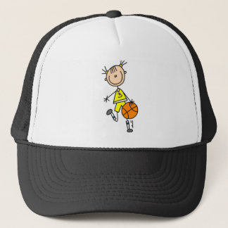 Girl Dribbling Basketball Tshirts and Gifts Trucker Hat