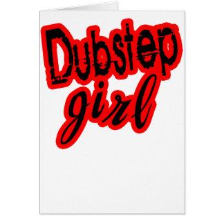 girl Dubstep Greeting Card