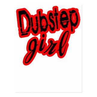 girl Dubstep Postcard