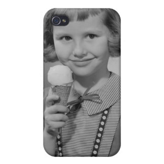 Girl Eating Ice Cream Case For iPhone 4