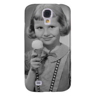 Girl Eating Ice Cream Galaxy S4 Case