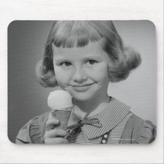 Girl Eating Ice Cream Mouse Pads