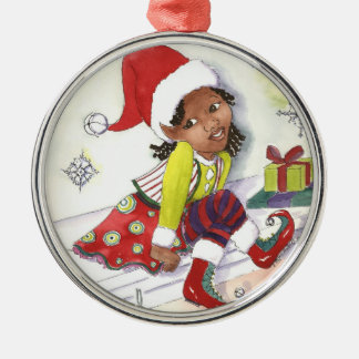 Girl Elf Christmas ornament