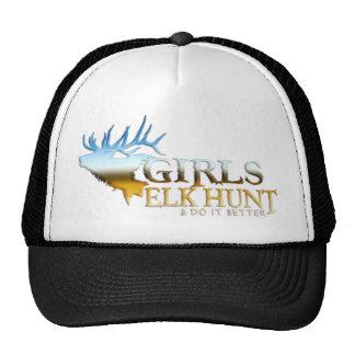 GIRL ELK HUNTING TRUCKER HAT