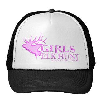 GIRL ELK HUNTING TRUCKER HATS
