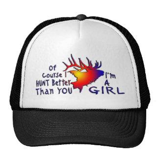 GIRL ELK HUNTING MESH HATS