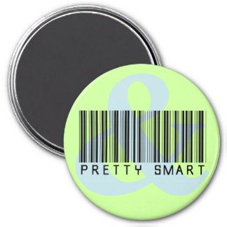 Girl Empowerment: You can be pretty and smart 7.5 Cm Round Magnet