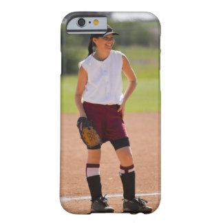 Girl enjoying playing baseball barely there iPhone 6 case