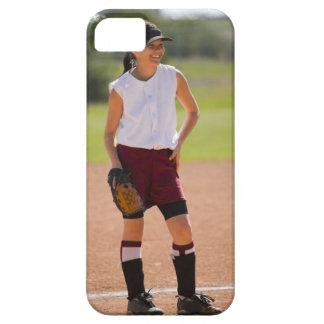 Girl enjoying playing baseball iPhone 5 cover
