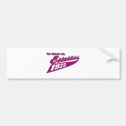Girl Established 90 Bumper Sticker