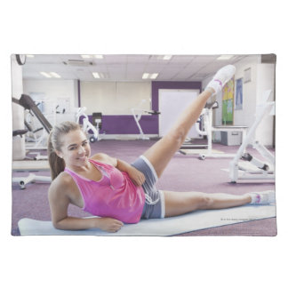 Girl Exercising in Gym Placemat