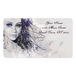 Girl Face Eyes Hair Drawing Pack Of Standard Business Cards