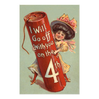 Girl Firework Firecracker Invitation Photographic Print