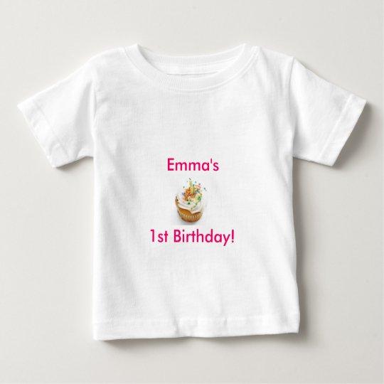 Girl First Birthday Baby T-Shirt
