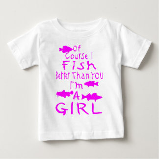 GIRL FISHING BABY T-Shirt