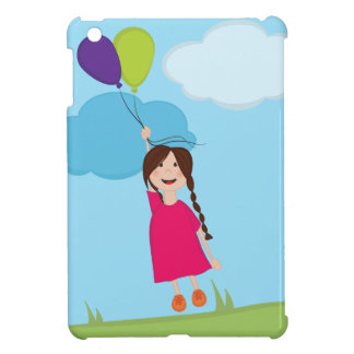 Girl Floating Away With Balloons iPad Mini Cover