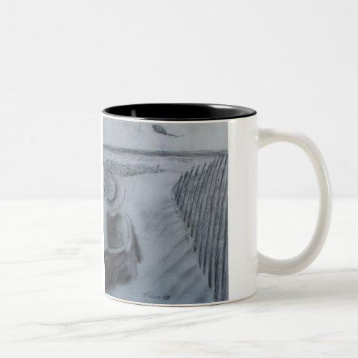 Girl Flying A Kite Coffee Mugs