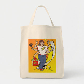 Girl Friday Grocery Tote Canvas Bags