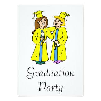 Girl Friends Graduating 13 Cm X 18 Cm Invitation Card
