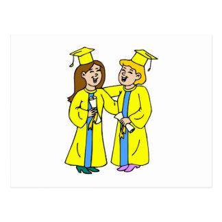 Girl Friends Graduating Postcard