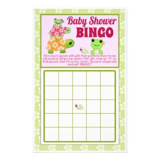 Girl Frog Baby Shower Game BINGO Sheet 14 Cm X 21.5 Cm Flyer