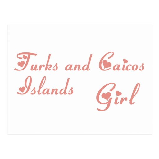 Girl from Turks and Caicos Islands Postcard