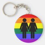 Girl + Girl Rainbow Keychain
