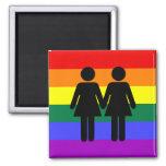 Girl + Girl Rainbow Magnet