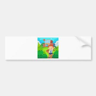 Girl going to school bumper sticker