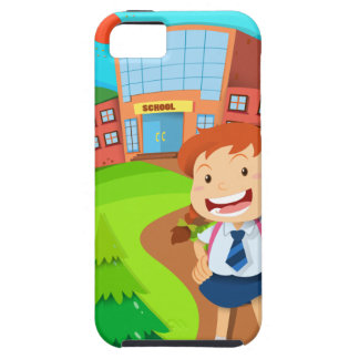 Girl going to school case for the iPhone 5