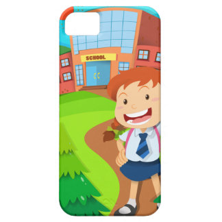Girl going to school iPhone 5 cover