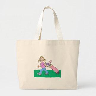 Girl Golfers Canvas Bags