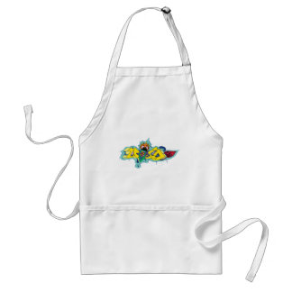 Girl Gone Crazy Wild Graffiti Character Standard Apron