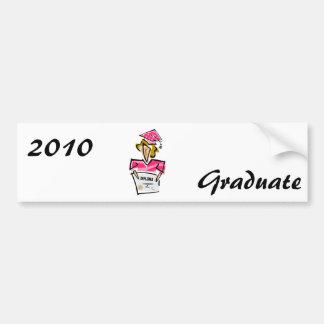 Girl Grad Car Bumper Sticker