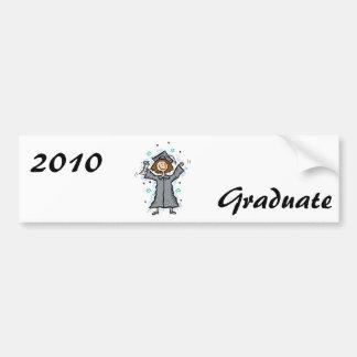 Girl Grad Celebration Car Bumper Sticker