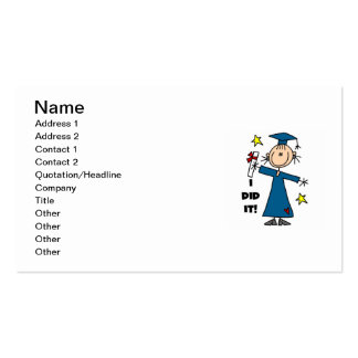 Girl Graduate Pack Of Standard Business Cards