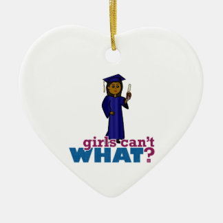 Girl Graduate in Blue Gown Christmas Ornaments