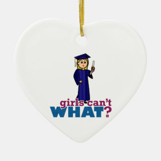 Girl Graduating Christmas Ornament